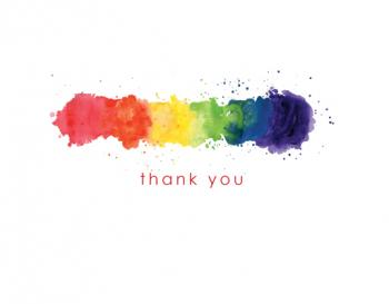 Rainbow Thank You Card Thank You Cards