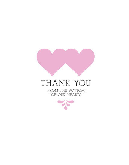 thank you cards - Bottom of Our Hearts by Adori Designs