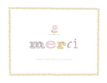 a warm merci Thank You Cards