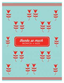 Happy Tulips Thank You Cards