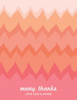 Zigzag Love Thank You Cards
