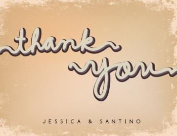 hand script Thank You Cards