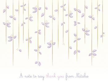 Under the Willow Thank You Cards