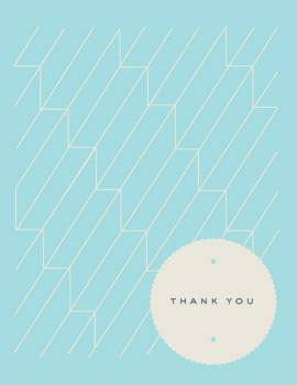 geometric steps Thank You Cards