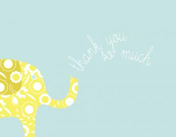 my little elephant Thank You Cards