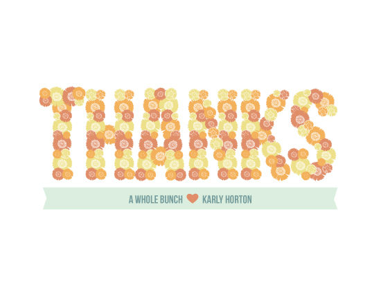 thank you cards - Thanks a Bunch by Sparkmymind Designs