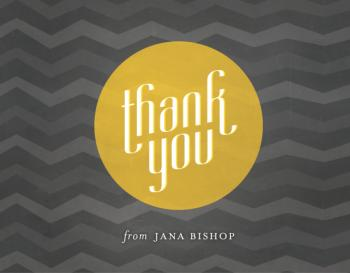 Classic Funk Thank You Cards