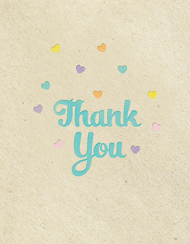 thank you cards - Faux Letterpress  by Adori Designs