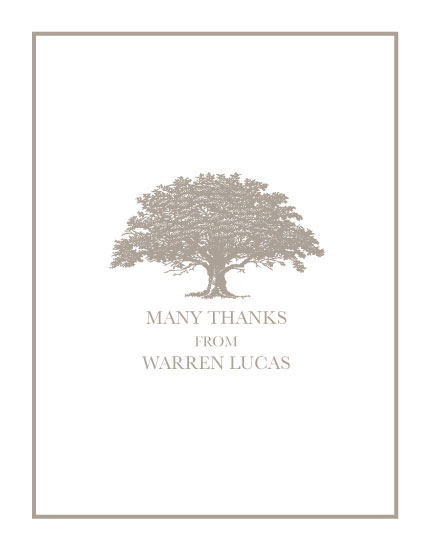 thank you cards - OLD OAK by Olive Paper