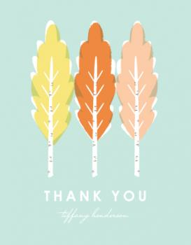 Trees of Thanks Thank You Cards