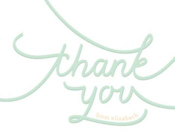 Elegant Hand Thank You Cards