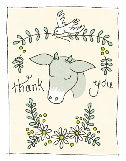 thank you cards - Goat of Appreciation  by 2birdstone