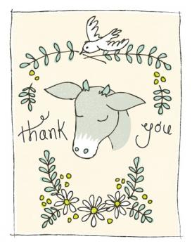 Goat of Appreciation  Thank You Cards