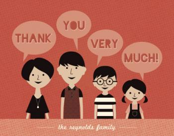 Happy Family Thank You Cards