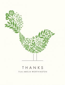 Floral Fringe Thank You Cards