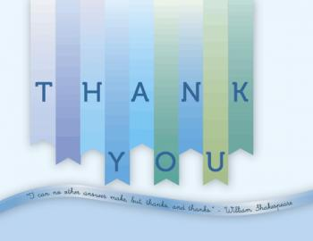 Banner Thank You Thank You Cards