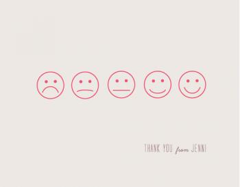 Happy Face Thank You Cards