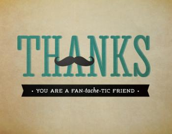 Fan-tache-tic Friends Thank You Cards