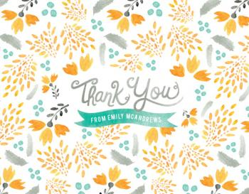 Blooms & Plumes Thank You Cards