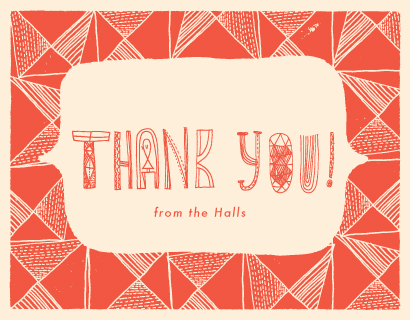 thank you cards - You're The One by ERAY