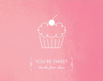 Sweet Cupcake Thank You Cards