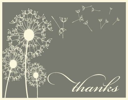 thank you cards - Dandilion Wish