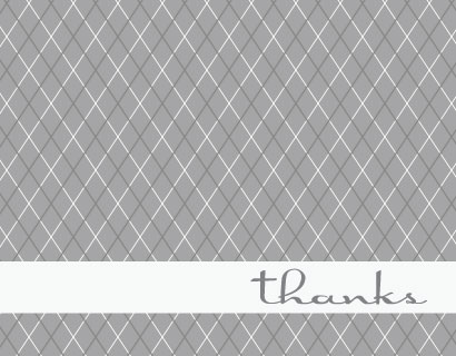 thank you cards - Savile Row Plaid