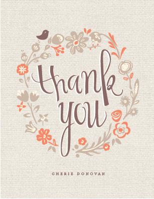 thank you cards - garden lullaby by chocomocacino