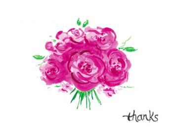 Floral Thanks Thank You Cards