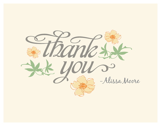 thank you cards - A sweet Note by Adori Designs