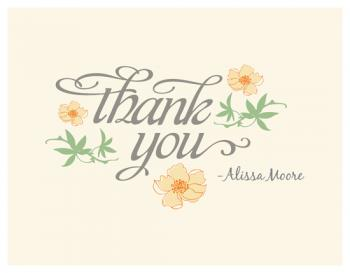A sweet Note Thank You Cards