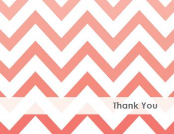 Chevron Thank You Thank You Cards