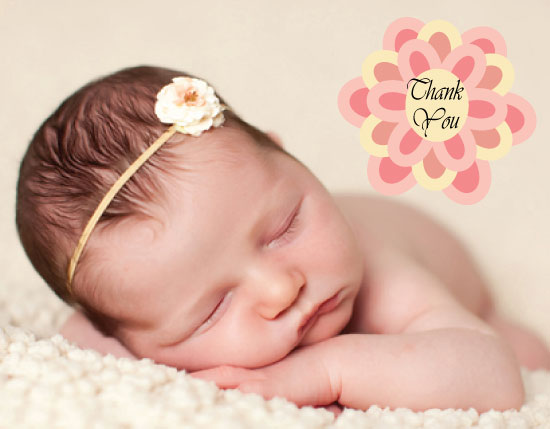 thank you cards - Sweet Baby Girl by Deanna Pickford
