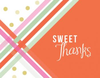 Sweet Stripes and Polka Dots Thank You Cards