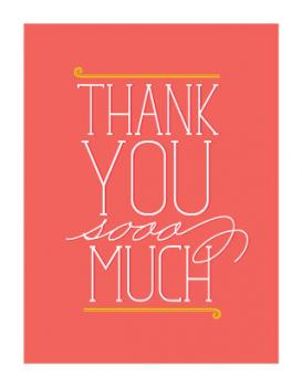 Triple-O Thank You Thank You Cards