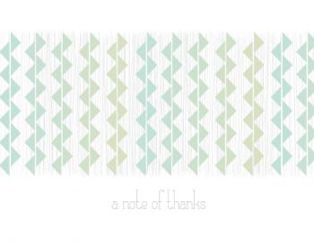 Geometric Thanks Thank You Cards