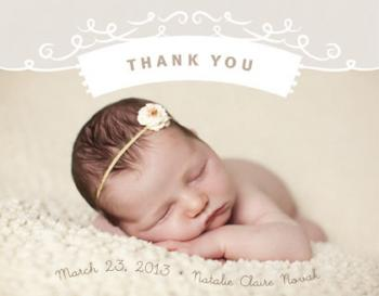 Baby Thank You Thank You Cards
