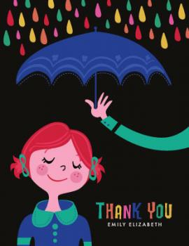 Rainy Day Thanks Thank You Cards