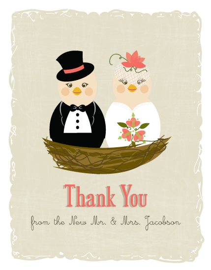 thank you cards - Love Birds by Dreaming Inspirations