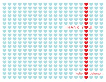 Tiny Hearts Thank You Cards