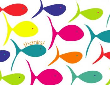 Summer Fish Thank You Cards