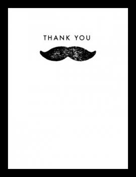 Mighty Mustache  Thank You Cards