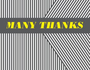 Bold Stripe Thank You Cards