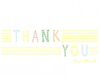 Typography Stitch Thank You Cards