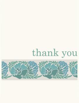 Floral Band  Thank You Cards
