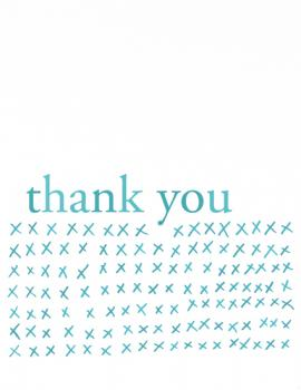 Kisses Thank You Cards