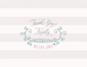 Curled Thank You Cards