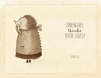 Ermengarde the Hedgehog Thank You Cards