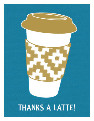thank you cards - Thanks A Latte! by By Birch