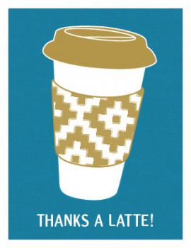 Thanks A Latte! Thank You Cards